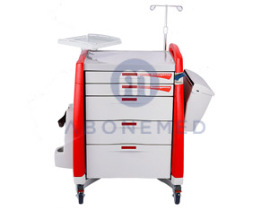Medical Crash Cart Red Color