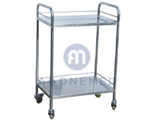 Medical Stainless Steel Hospital Utility Cart Trolley