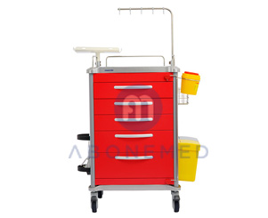 Emergency Cart With Five Drawers
