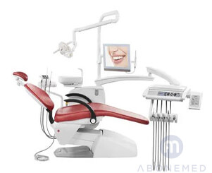 Dental treatment unit with light