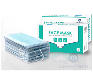 3 ply Disposable Blue Mask