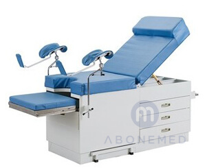 Gynecological couch with Cabinet –Powder coted