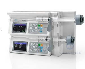 2-channel syringe pump